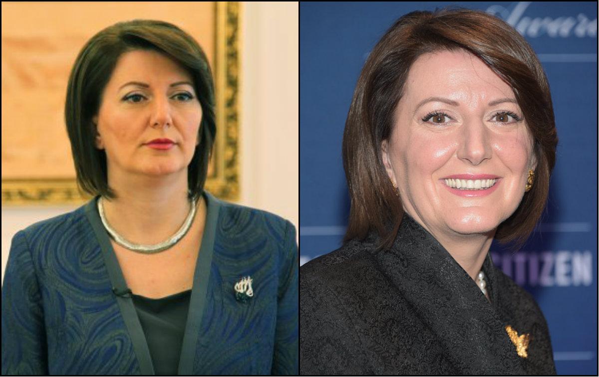 Kosovo President Atifete Jahjaga bob hairstyles
