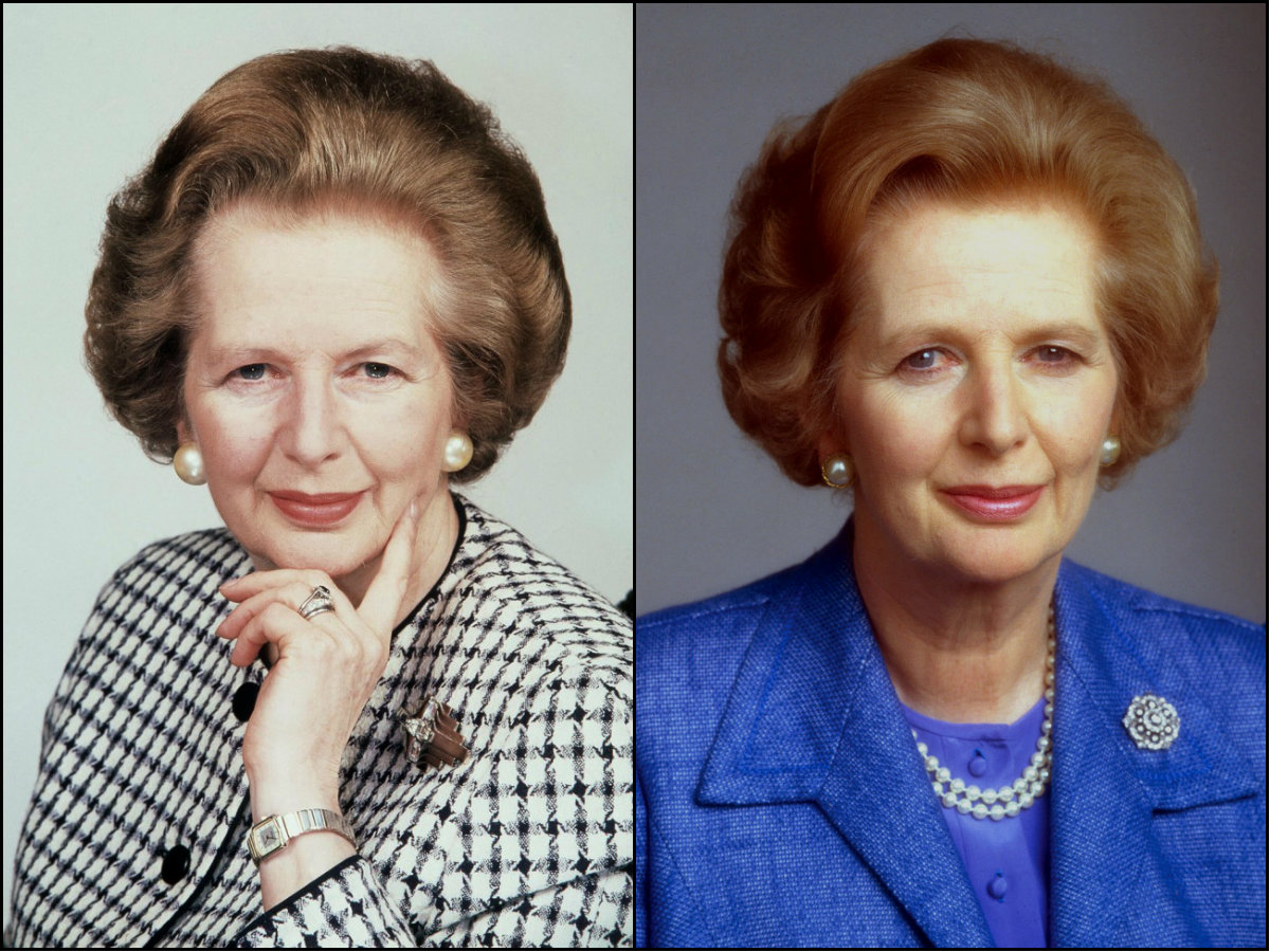 Margaret Thatcher iconic bob hairstyles