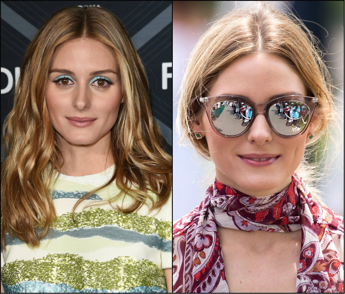 Olivia Palermo center parted hairstyles