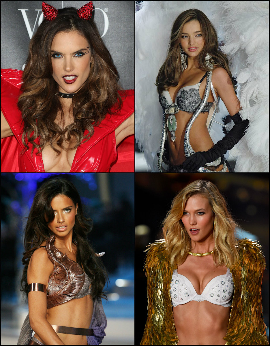Victoria's Secret Angels hairstyles