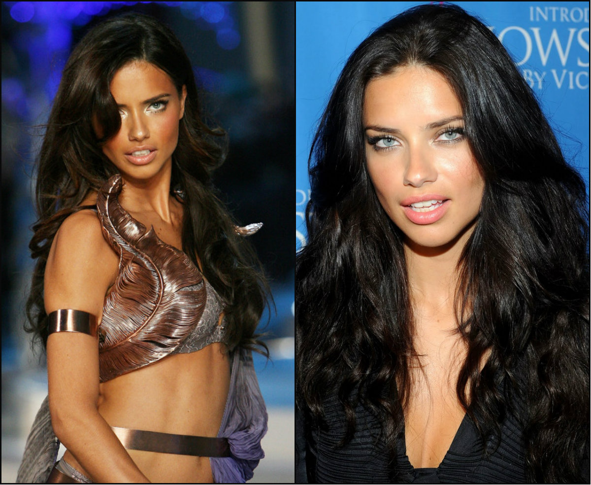 Victoria's Secret models hairstyles -Adriana Lima