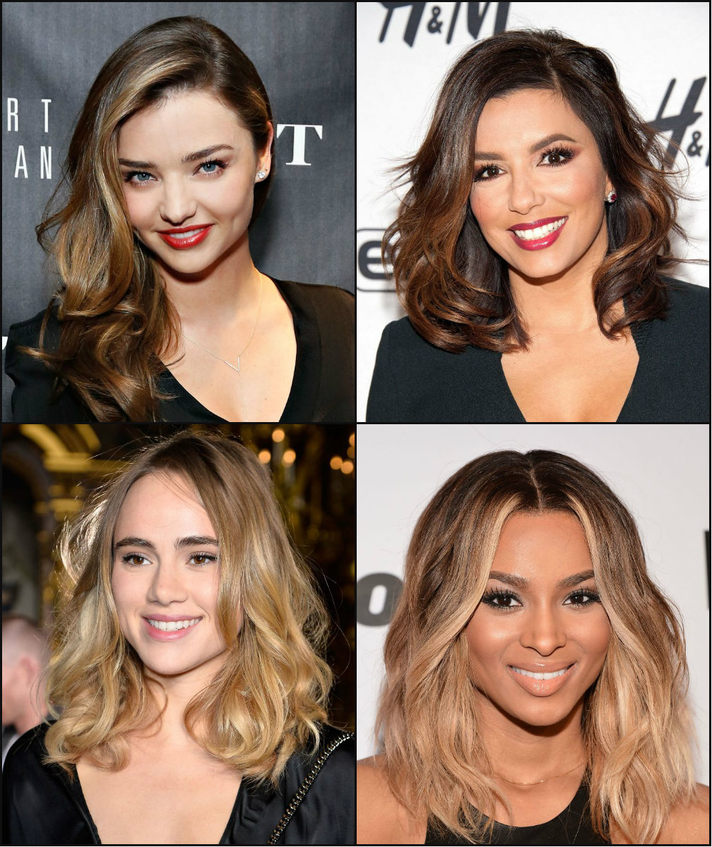 best celebrity balayage hair colors