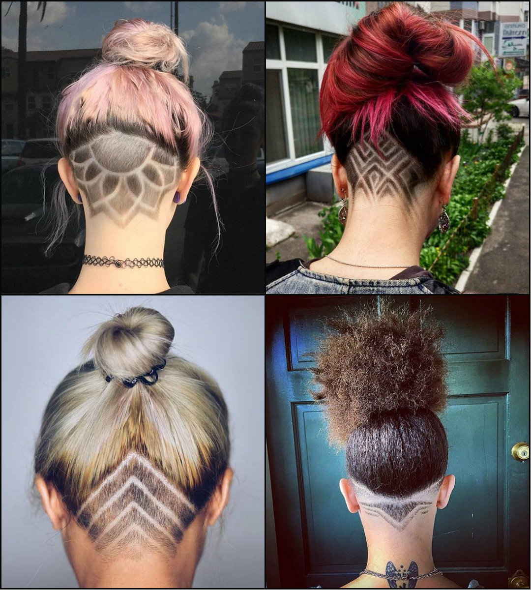 best female undercut patterns hairstyles