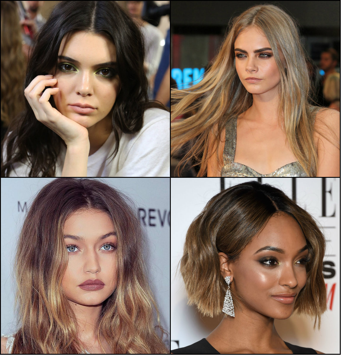 best mid part hairstyles