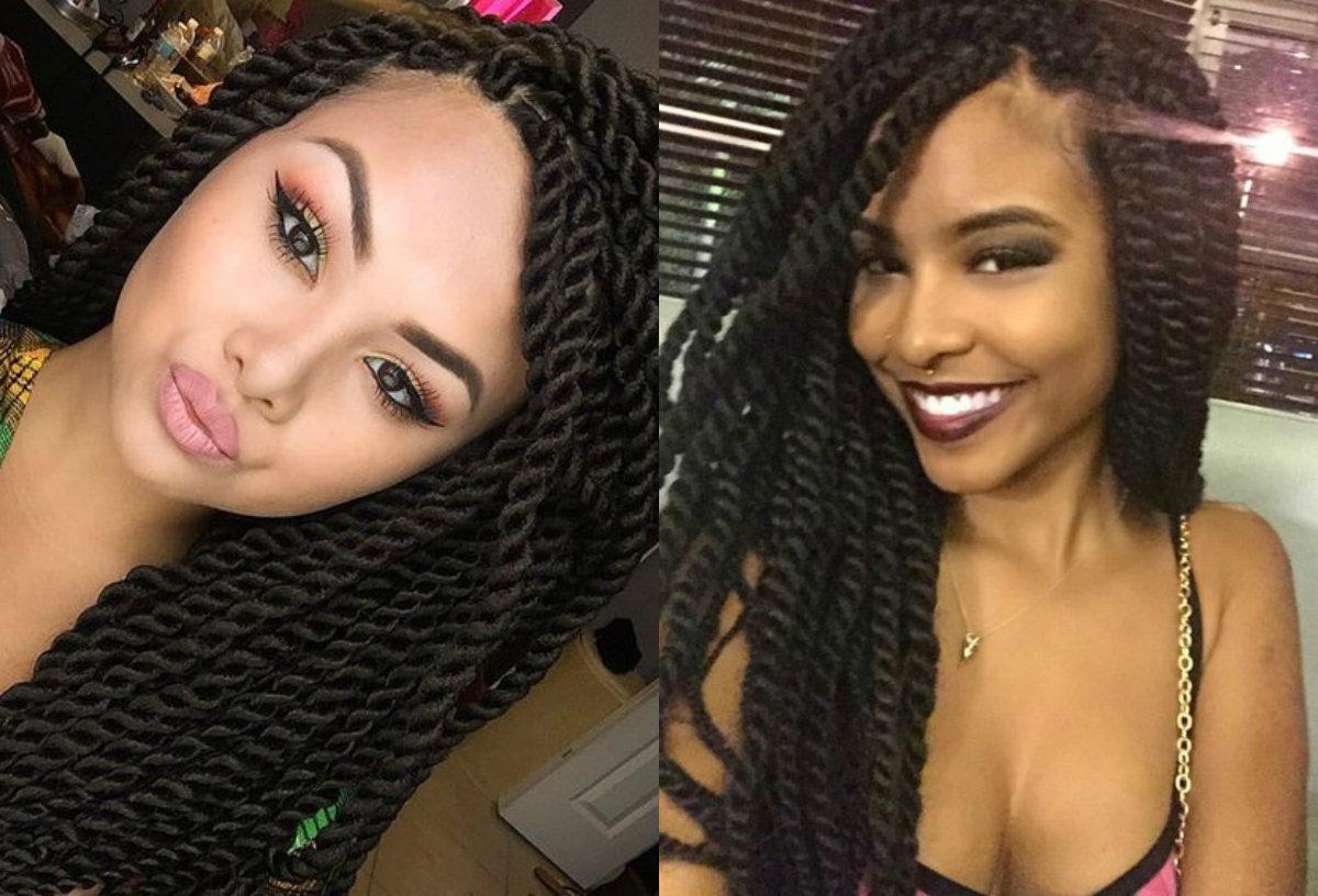 big black twists hairstyles