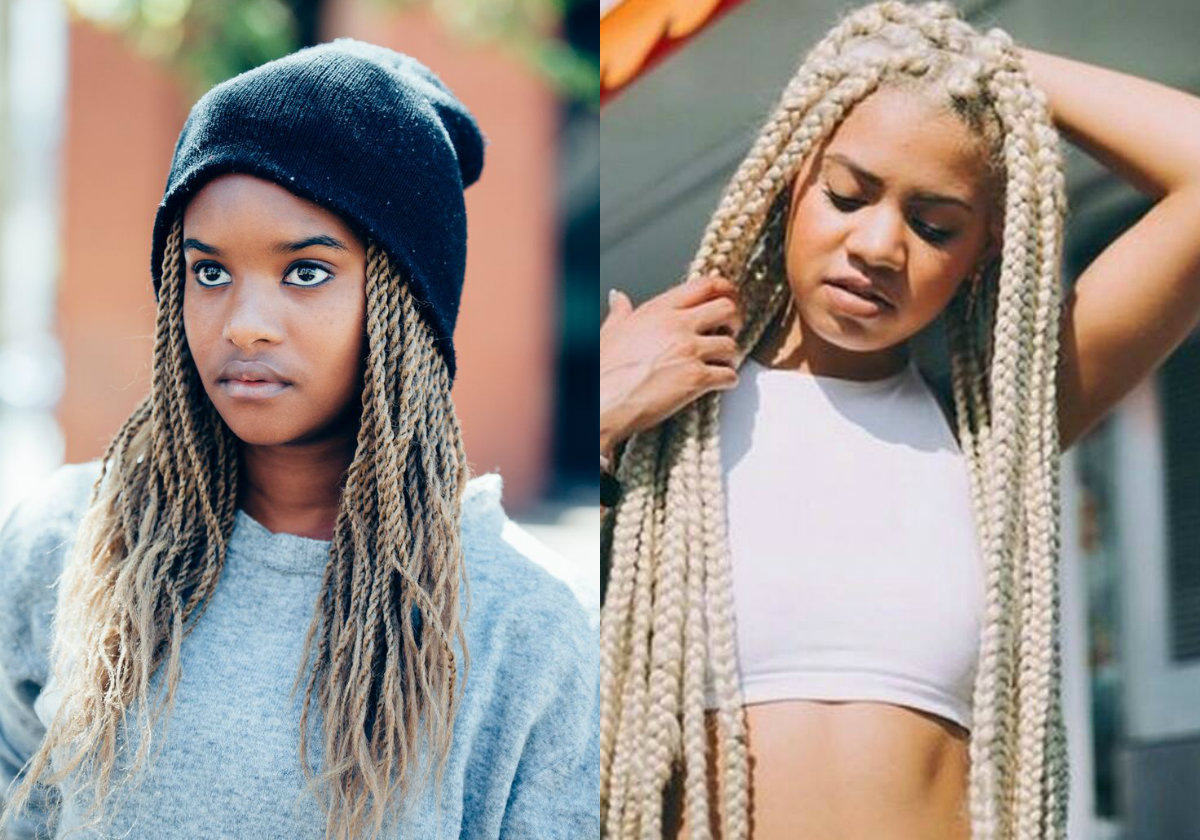 blonde twists and braids black hairstyles 2017