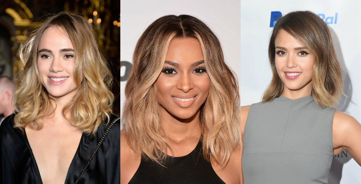celebrity bob hairstyles and balayage hair colors