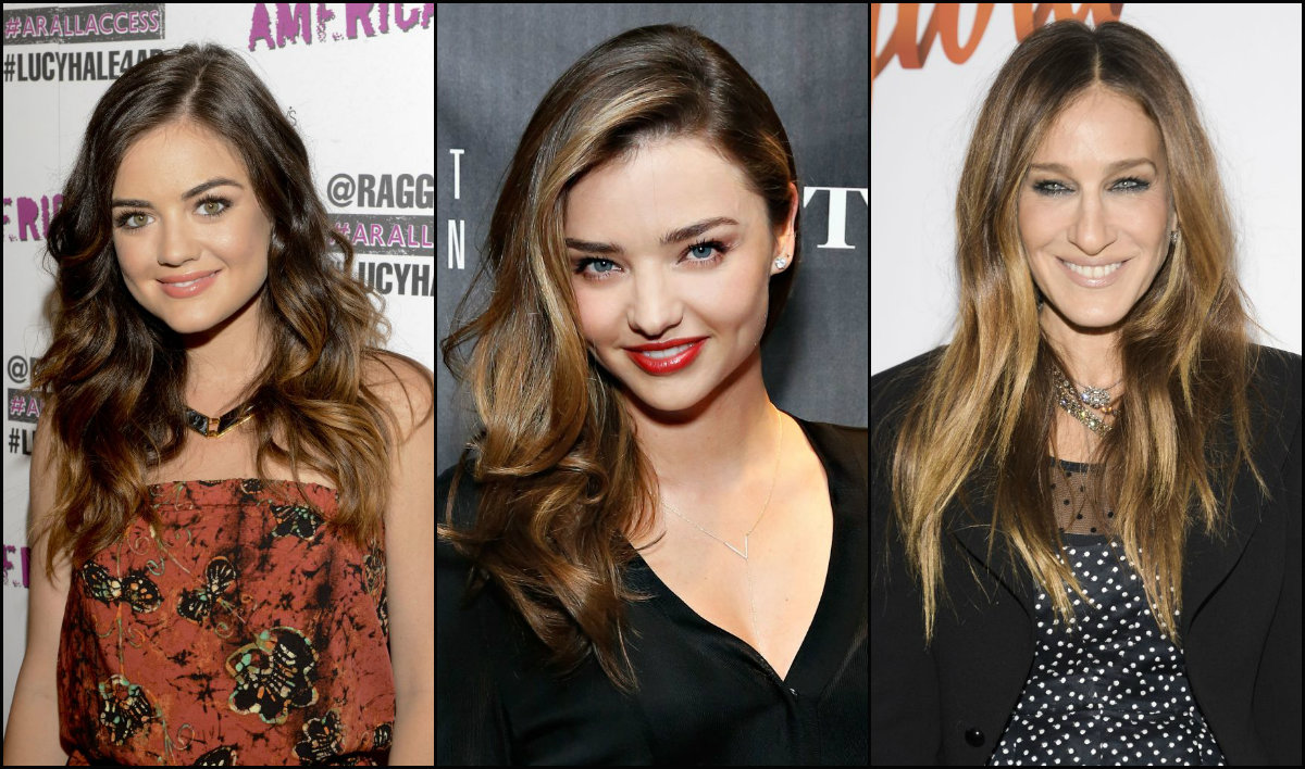 celebrity brown balayage hair colors