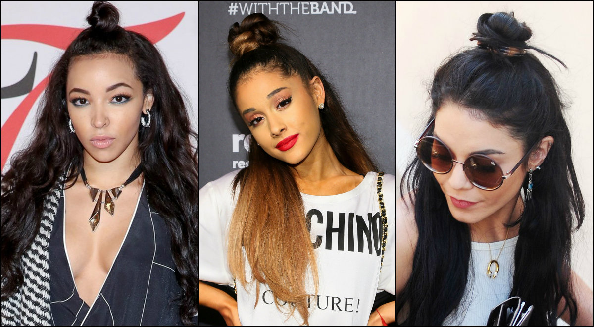 Celebrity Half Bun Hairstyles