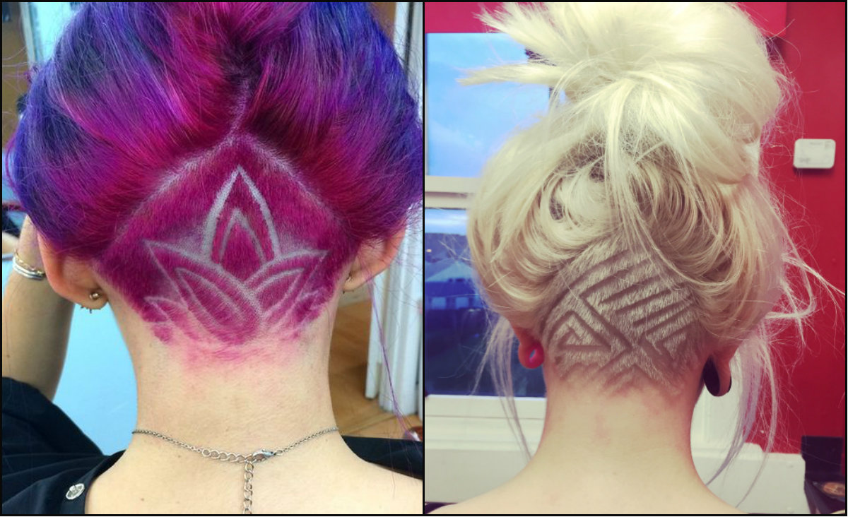 cool female undercut hair
