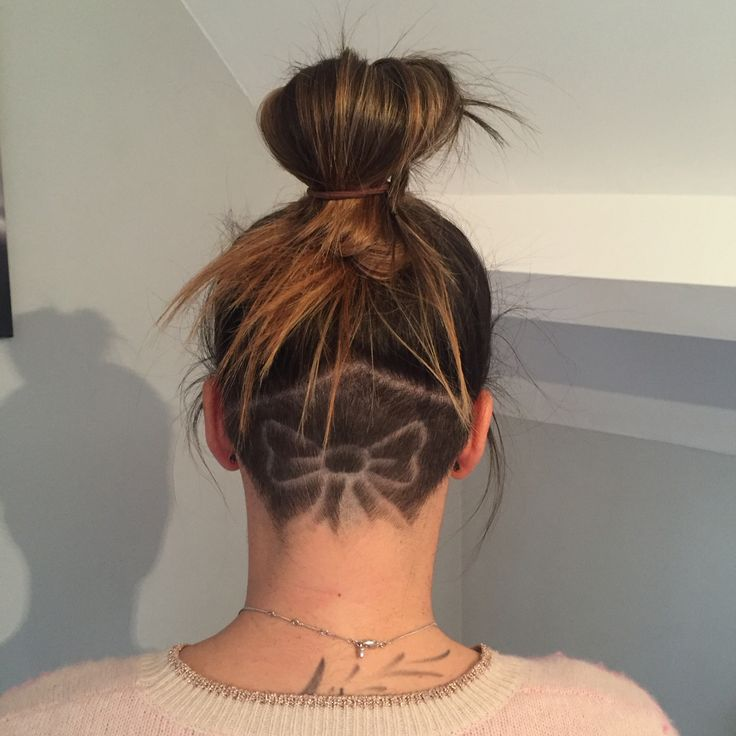 cute bow patter undercut hairstyles