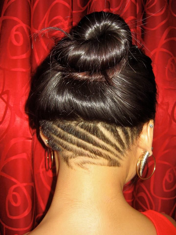 undercut patterns hairstyles for women