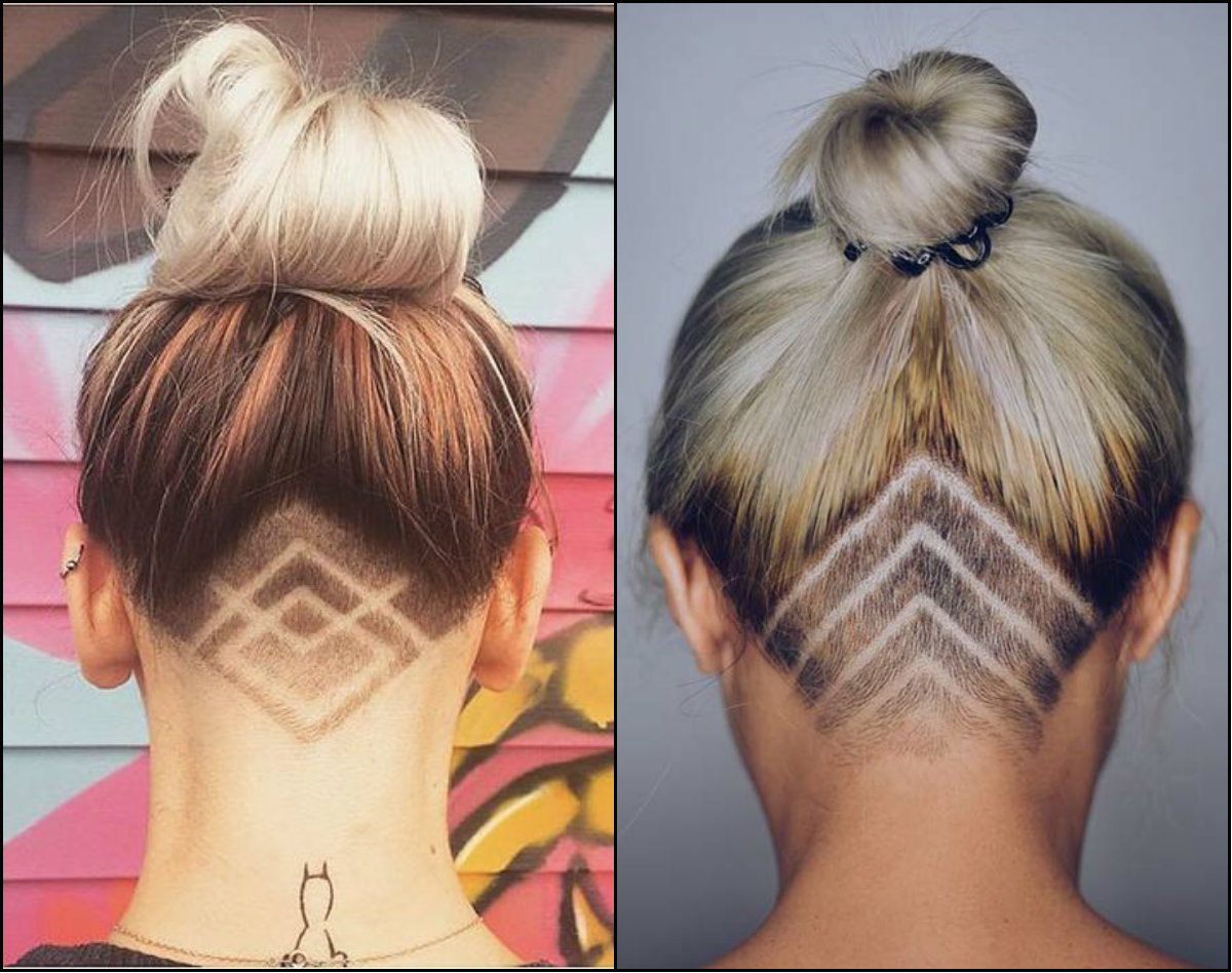 women undercut patterns hairstyles