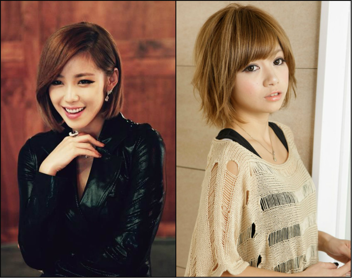 Asian bob haircuts with bangs