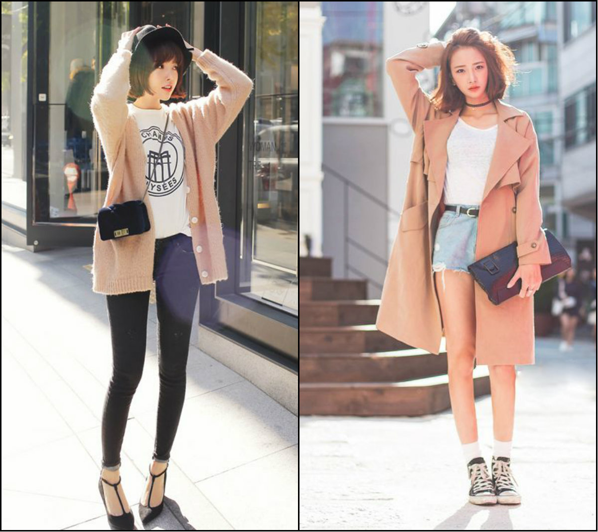 Asian street style looks and short hairstyles