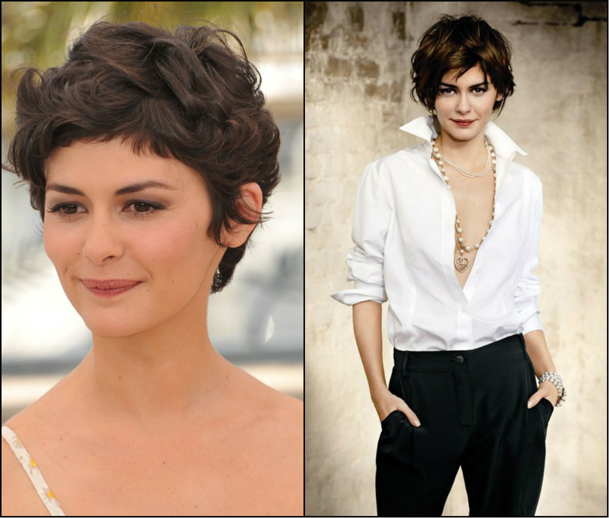 Audrey Tautou pixie haircuts