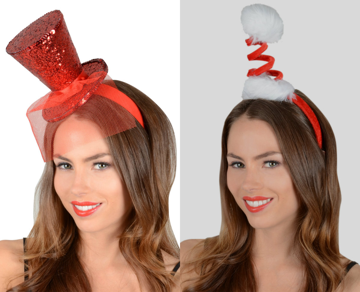 Christmas fascinators and hairstyles