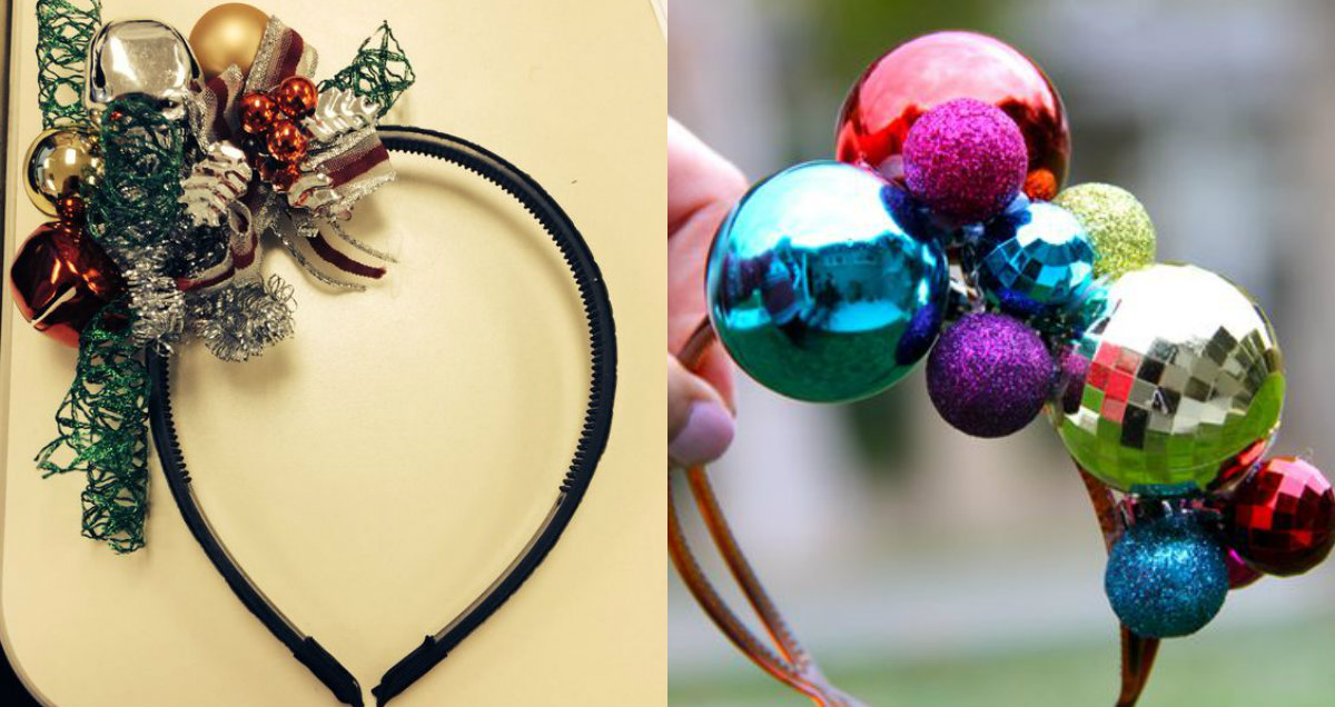 DIY Christmas headbands to meet 2017