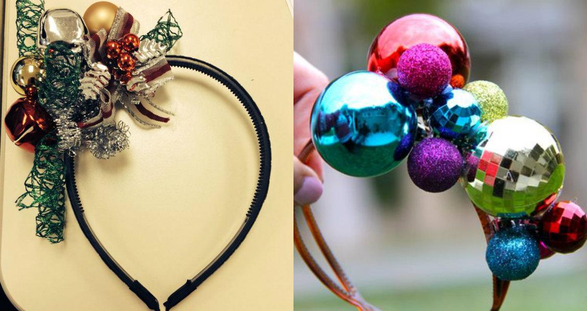 DIY Christmas headbands to meet 2017