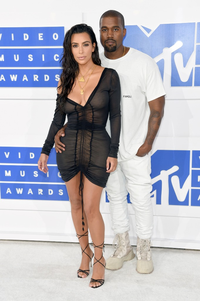 Kim Kardashian and Kanye West looks at VMA 2016
