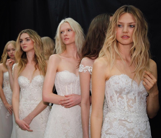 Reem Acra bridal spring 2017 hairstyles