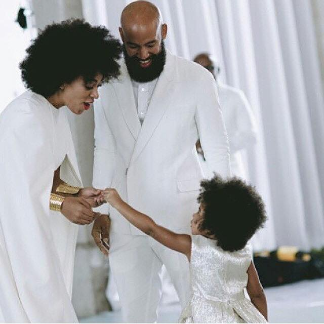 Solange Afro hairstyles for wedding