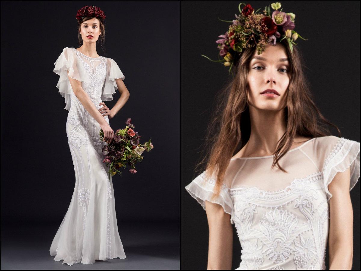 Temperley London bridal hairstyles 2017 Spring