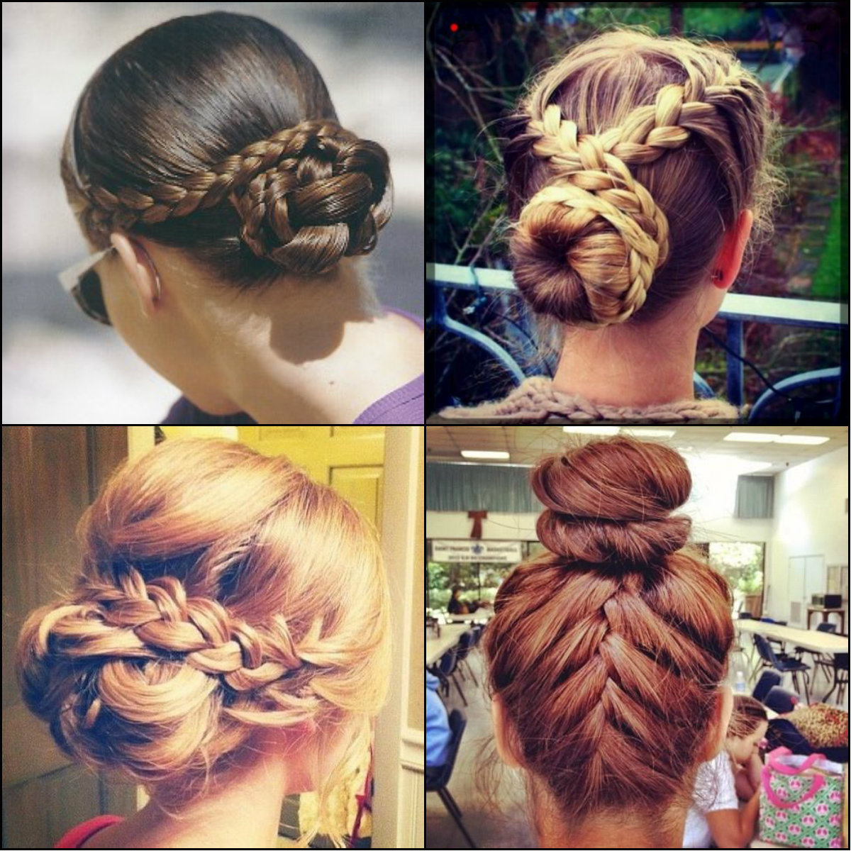 best braided bun hairstyles