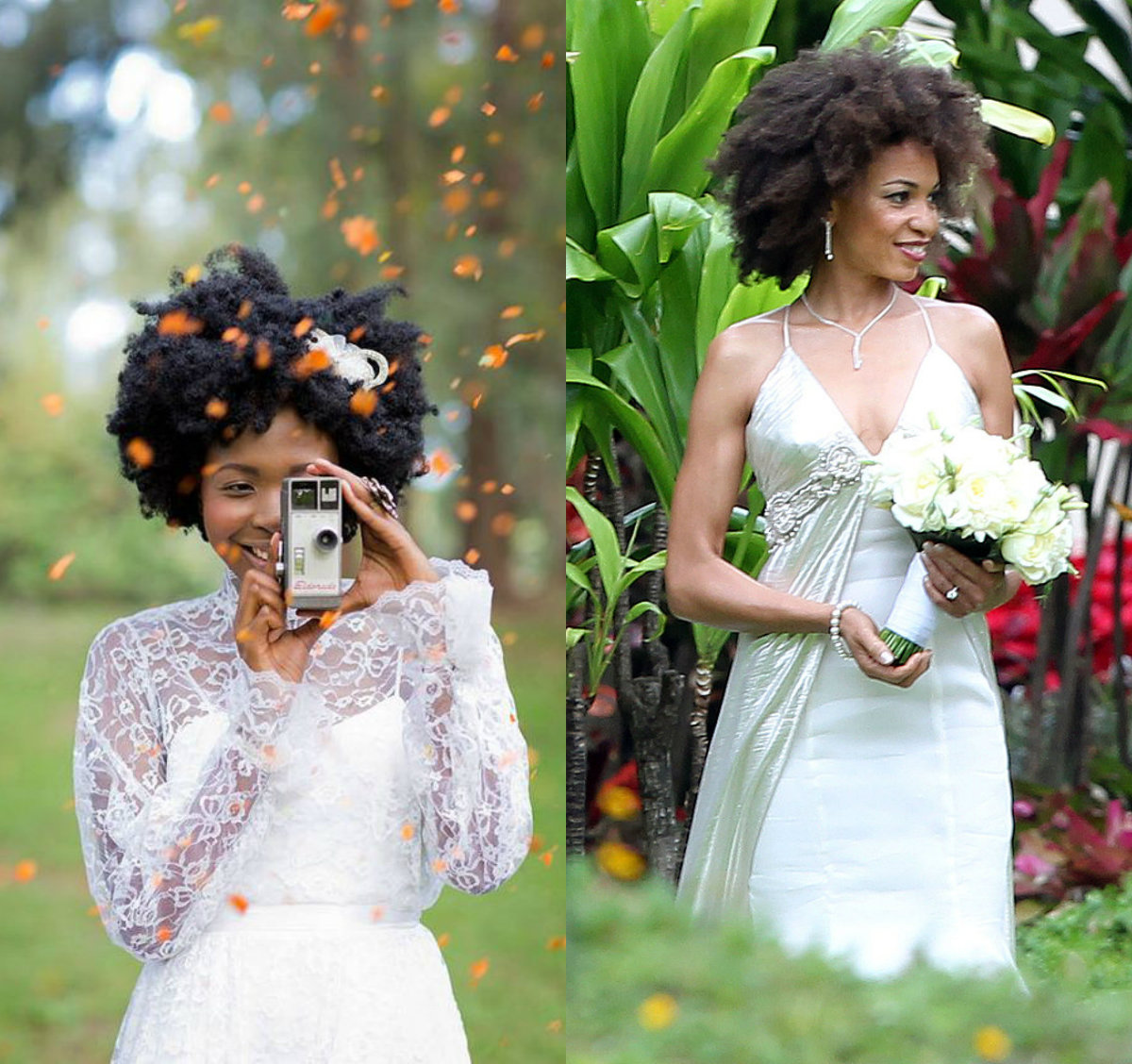 black women bridal afro hairstyles