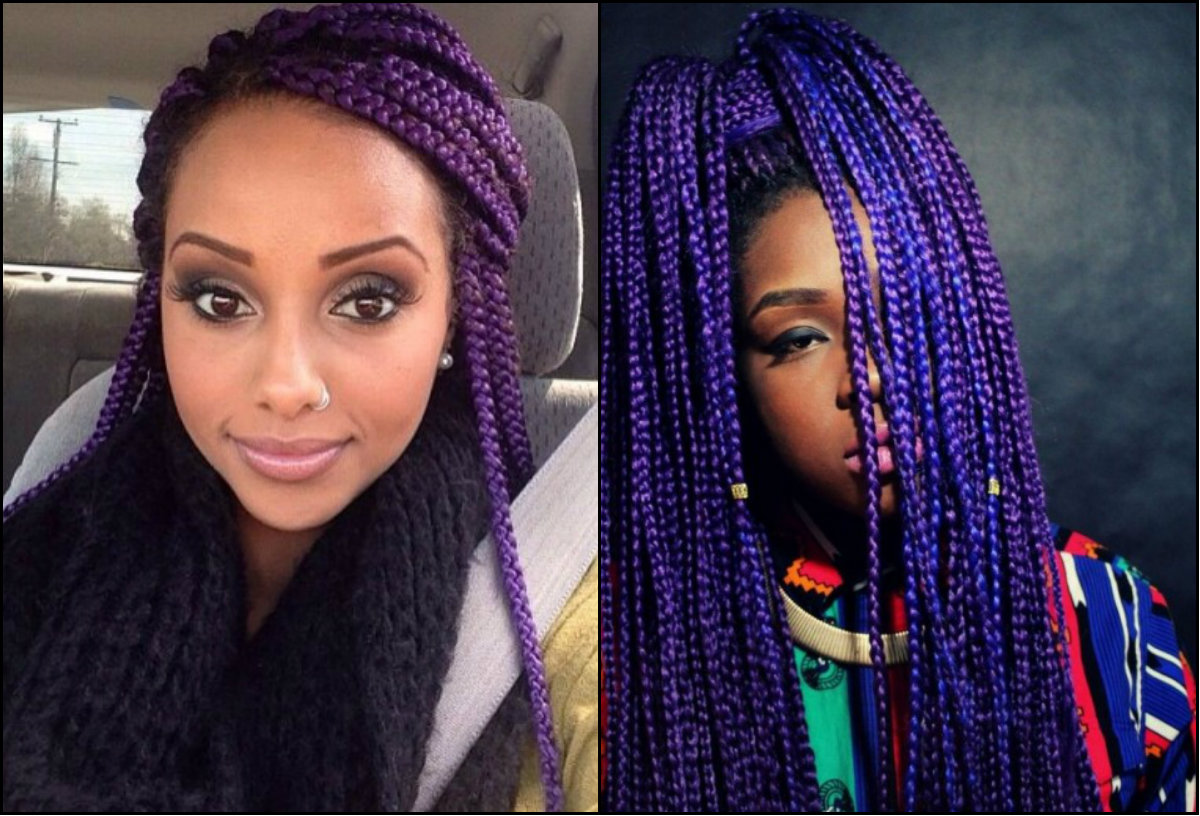 black women violet box braids 2017