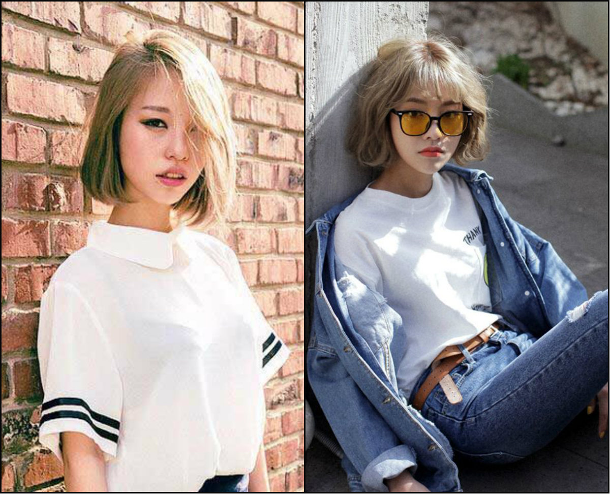 blonde bob hairstyles for Asian girls