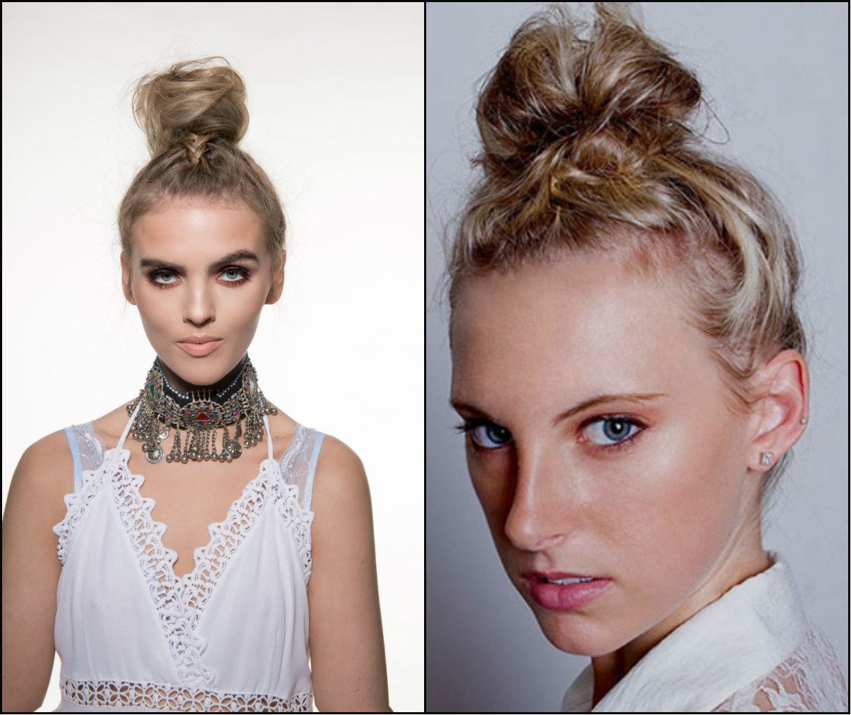 bun hairstyles with front braids