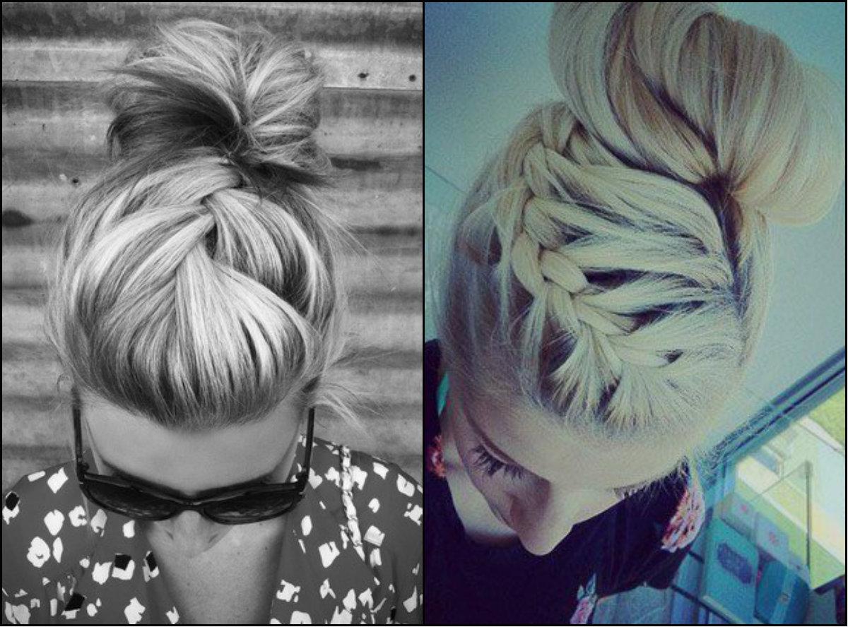bun with front braids