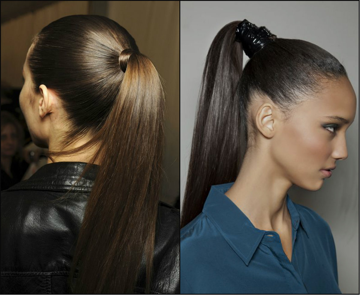 business high sleek ponytail hairstyles