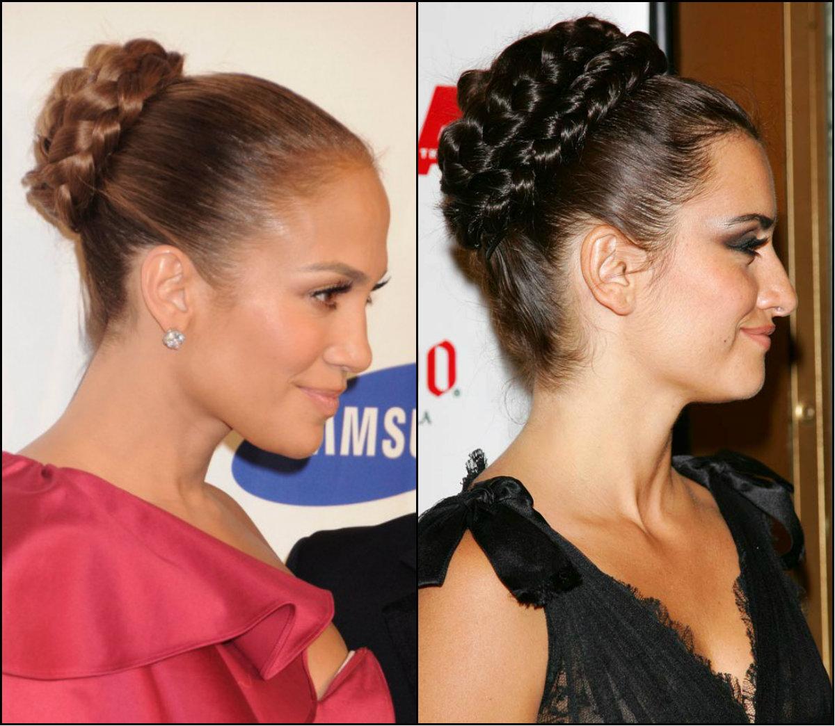 celebrity braided bun hairstyles