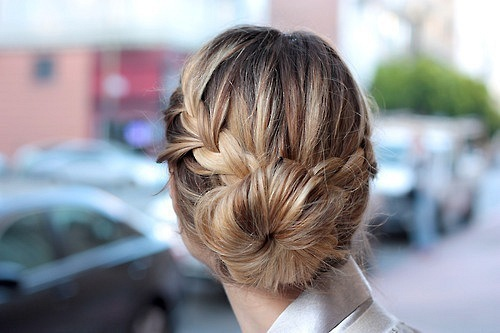 cross braided bun hairstyles