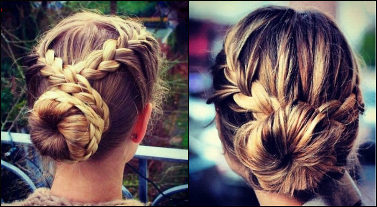 cross braided bun