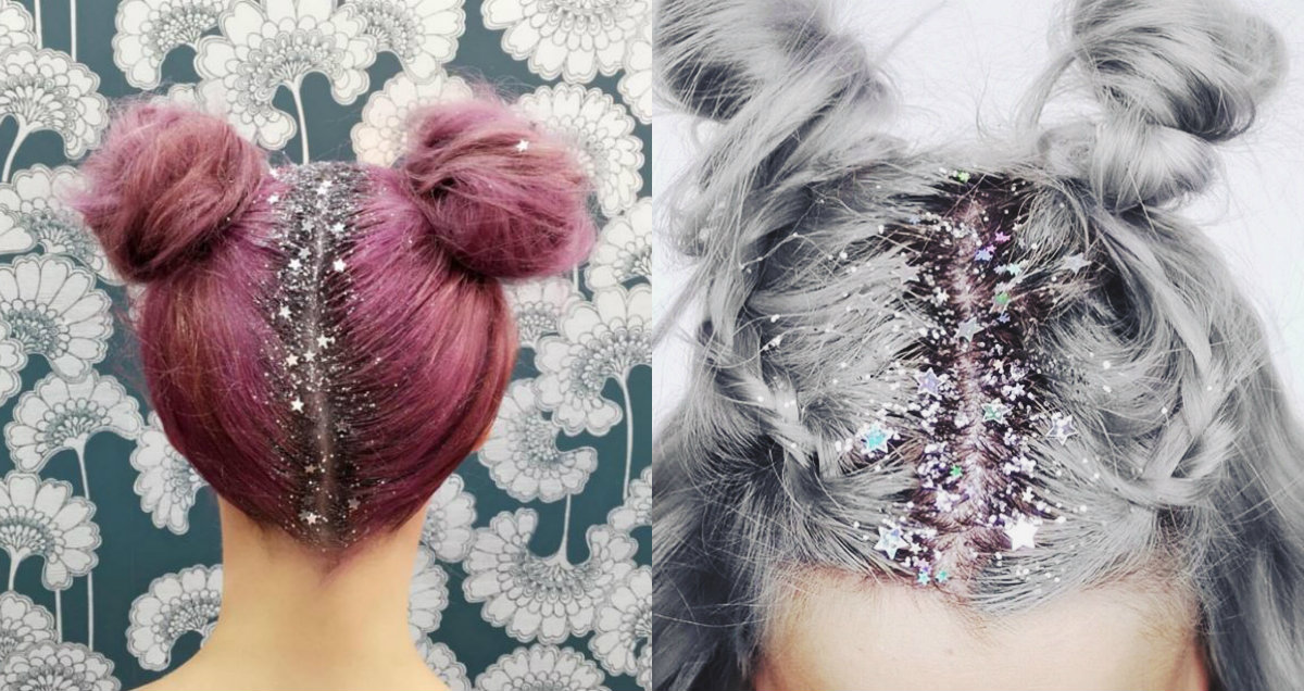 glittered hairstyles for New Year