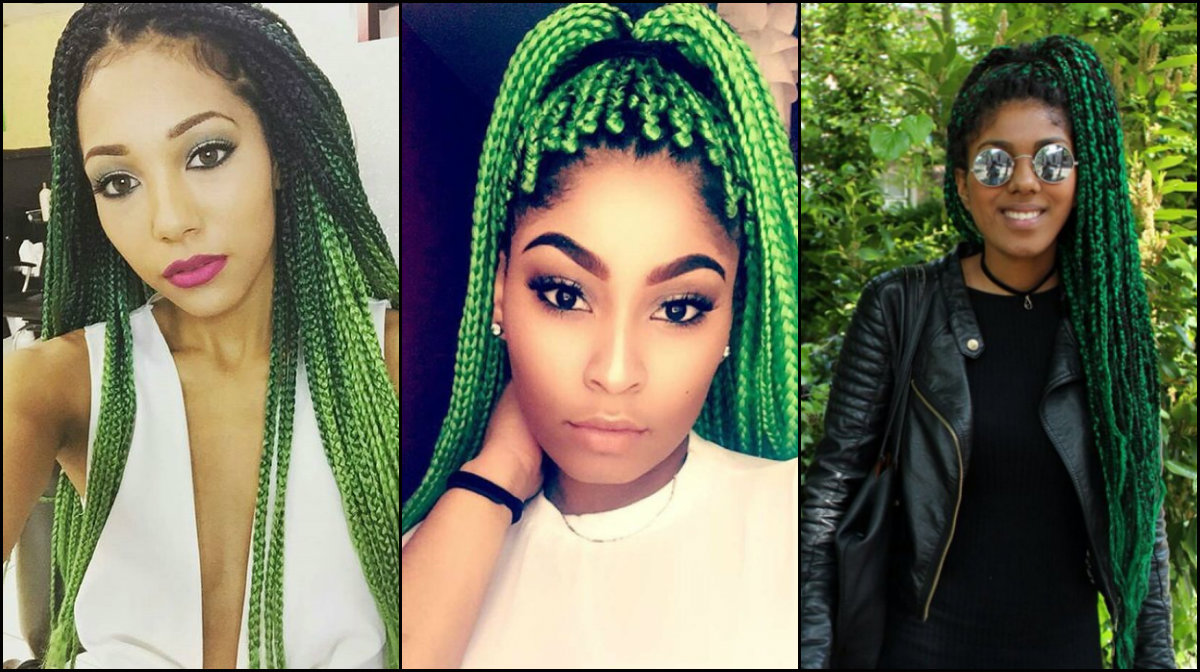 green box braids protective hairstyles