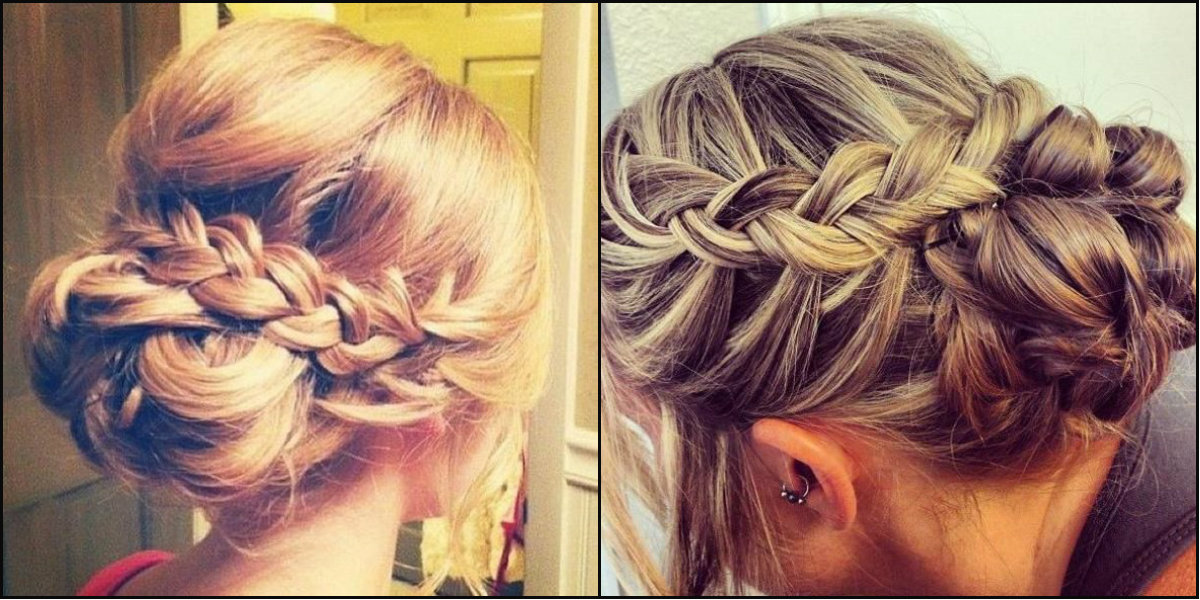 intricate braided low bun hairstyles