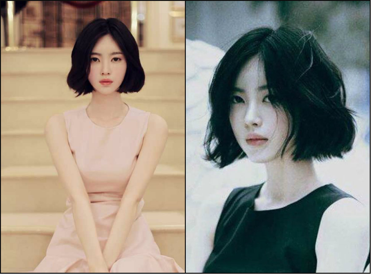 jet black bob hairstyles for Asian women