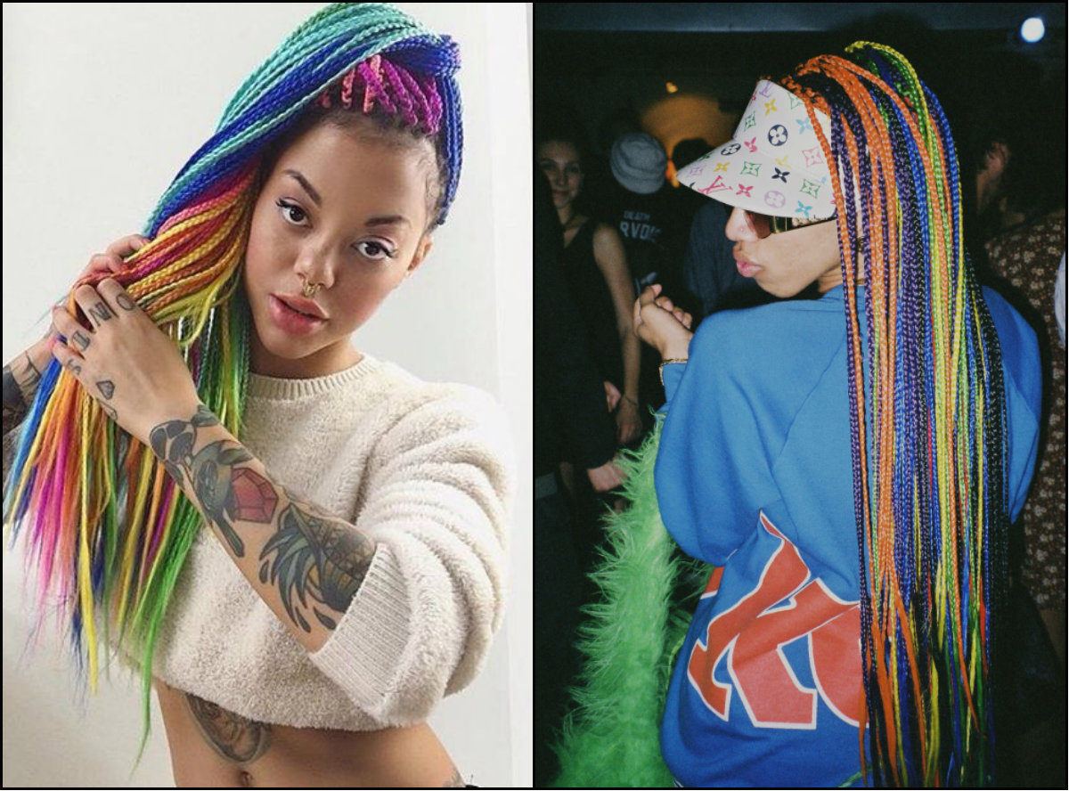 long rainbow box jumbo braids