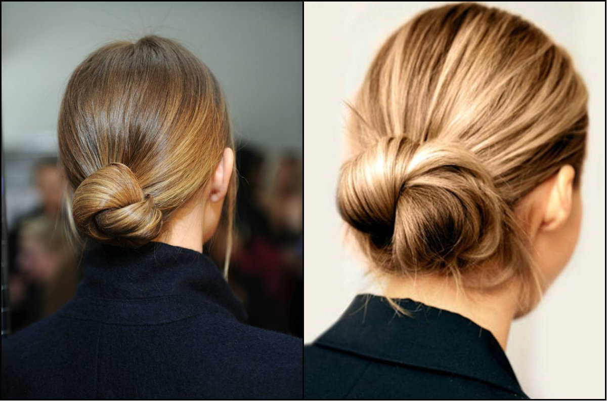low knot work hairstyles