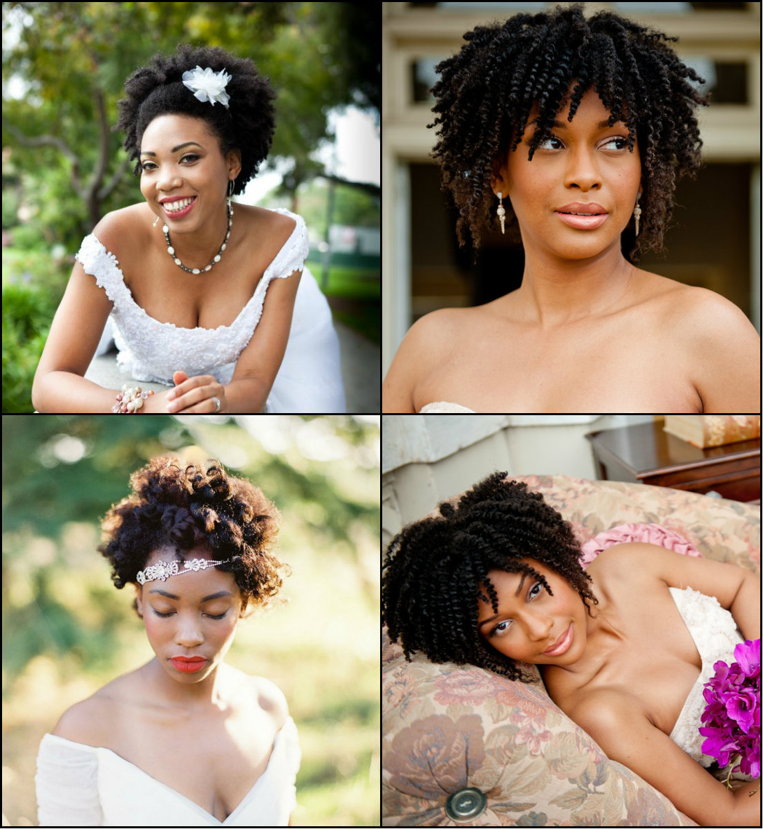 Black Women Wedding Afro Hairstyles
