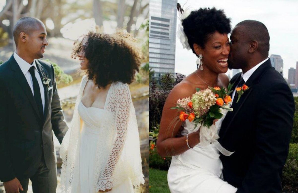 natural hairstyles for black wedding