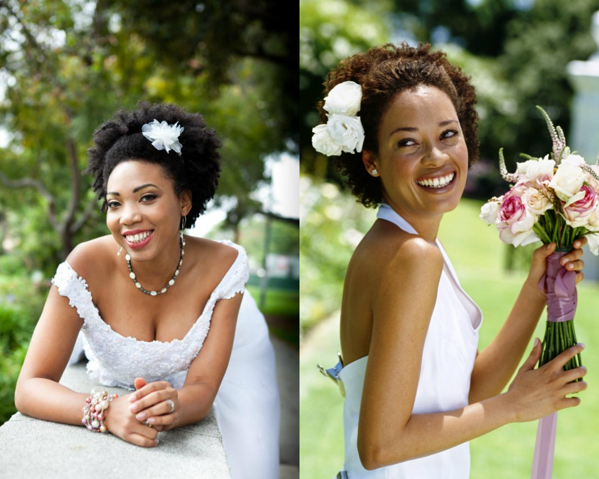 short natural afro hairstyles for wedding