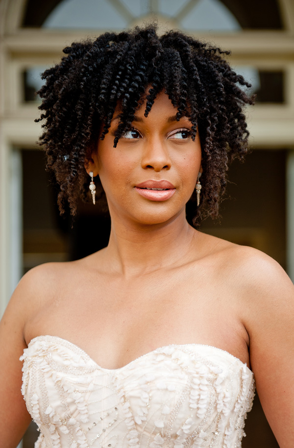 short natural wedding afro hairstyles