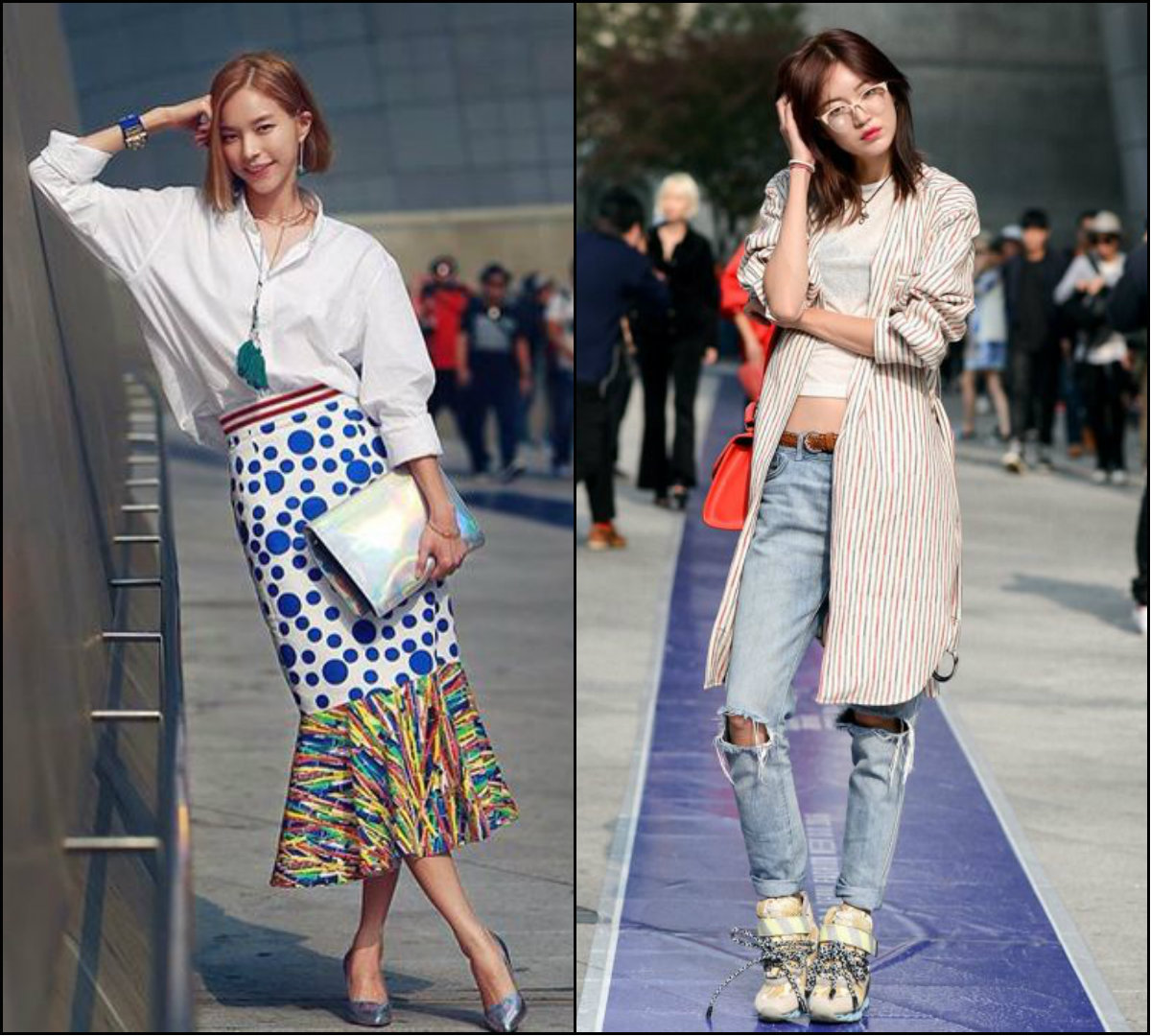 street style looks and bob haircuts for Asian women