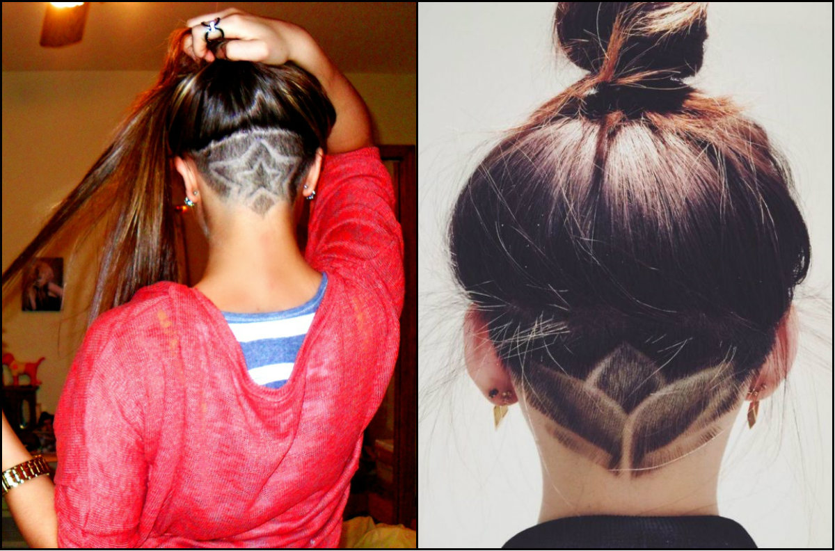 undercut patterned hairstyles for teens