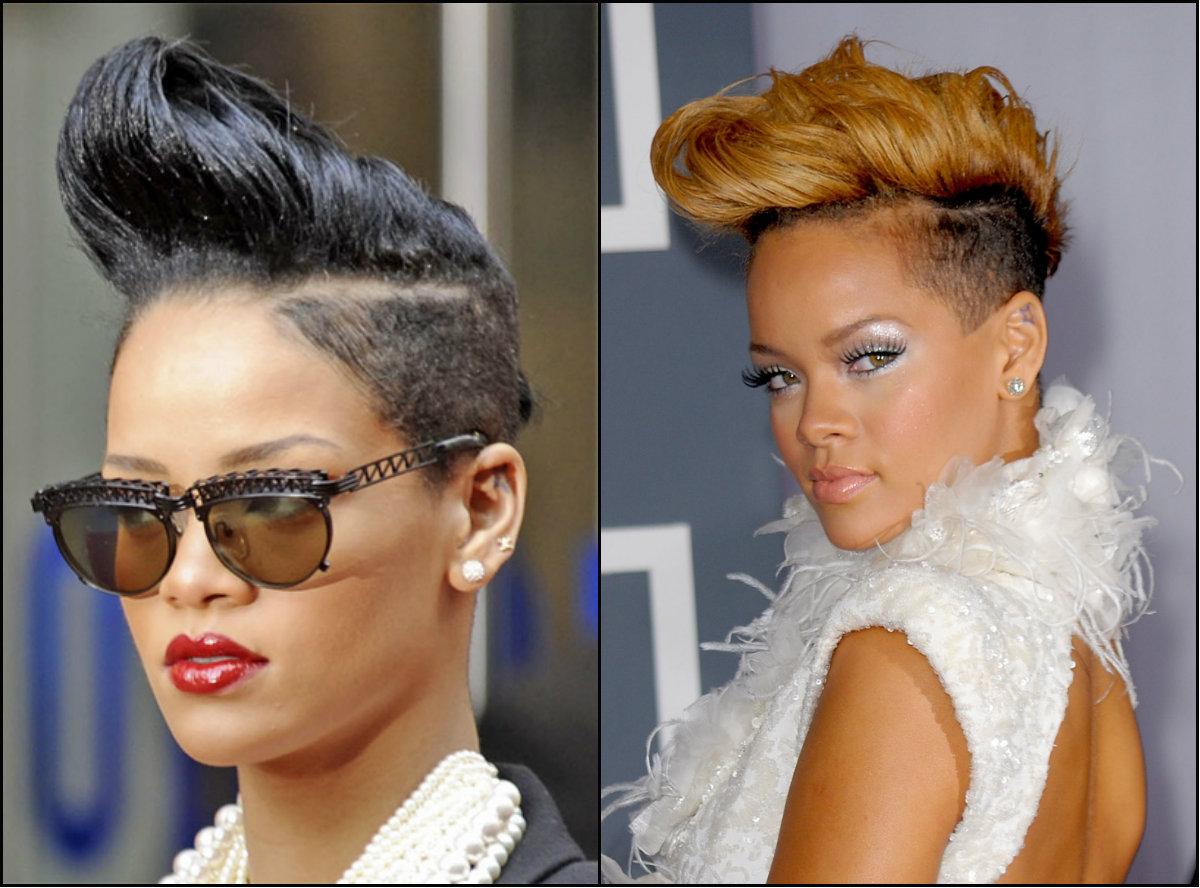 Rihanna fade haircuts